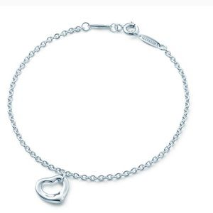 NWOT Tiffany & Co Open Heart bracelet